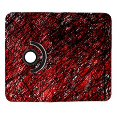 Red and black pattern Samsung Galaxy Note II Flip 360 Case