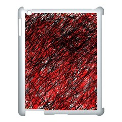 Red and black pattern Apple iPad 3/4 Case (White)
