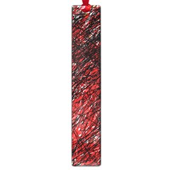 Red and black pattern Large Book Marks