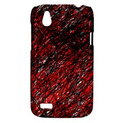Red and black pattern HTC Desire V (T328W) Hardshell Case