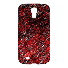 Red and black pattern Samsung Galaxy S4 I9500/I9505 Hardshell Case