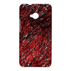 Red and black pattern HTC One M7 Hardshell Case