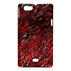 Red and black pattern Sony Xperia Miro