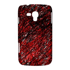 Red and black pattern Samsung Galaxy Duos I8262 Hardshell Case
