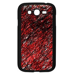 Red and black pattern Samsung Galaxy Grand DUOS I9082 Case (Black)