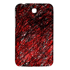 Red and black pattern Samsung Galaxy Tab 3 (7 ) P3200 Hardshell Case