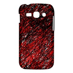 Red and black pattern Samsung Galaxy Ace 3 S7272 Hardshell Case