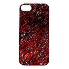 Red and black pattern Apple iPhone 5S/ SE Hardshell Case