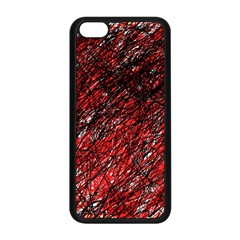 Red and black pattern Apple iPhone 5C Seamless Case (Black)
