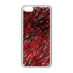 Red and black pattern Apple iPhone 5C Seamless Case (White)