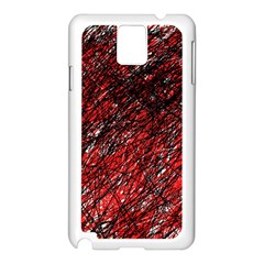 Red and black pattern Samsung Galaxy Note 3 N9005 Case (White)