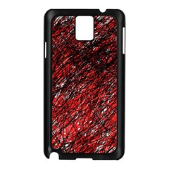 Red and black pattern Samsung Galaxy Note 3 N9005 Case (Black)