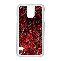 Red and black pattern Samsung Galaxy S5 Case (White)