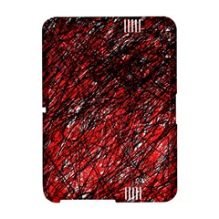 Red and black pattern Amazon Kindle Fire (2012) Hardshell Case