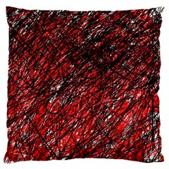 Red and black pattern Large Flano Cushion Case (Two Sides)
