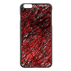 Red and black pattern Apple iPhone 6 Plus/6S Plus Black Enamel Case