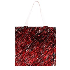 Red and black pattern Grocery Light Tote Bag