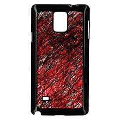 Red and black pattern Samsung Galaxy Note 4 Case (Black)