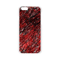 Red and black pattern Apple Seamless iPhone 6/6S Case (Transparent)