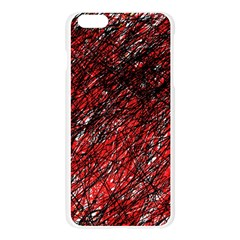 Red and black pattern Apple Seamless iPhone 6 Plus/6S Plus Case (Transparent)