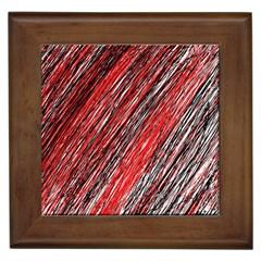 Red and black elegant pattern Framed Tiles