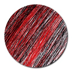 Red and black elegant pattern Round Mousepads
