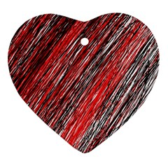 Red and black elegant pattern Ornament (Heart)