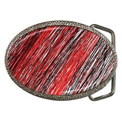 Red and black elegant pattern Belt Buckles