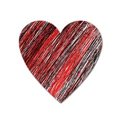 Red and black elegant pattern Heart Magnet