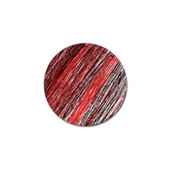 Red and black elegant pattern Golf Ball Marker (10 pack)