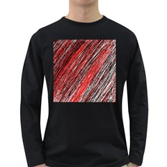 Red and black elegant pattern Long Sleeve Dark T-Shirts