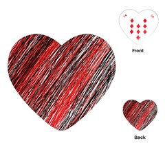 Red and black elegant pattern Playing Cards (Heart)