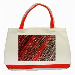 Red and black elegant pattern Classic Tote Bag (Red)