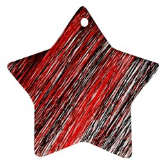 Red and black elegant pattern Star Ornament (Two Sides)