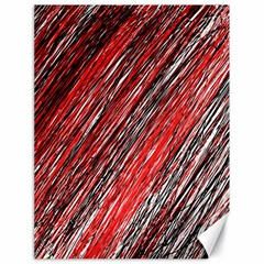 Red and black elegant pattern Canvas 18  x 24