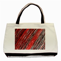 Red and black elegant pattern Basic Tote Bag (Two Sides)