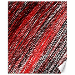 Red and black elegant pattern Canvas 11  x 14