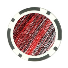 Red and black elegant pattern Poker Chip Card Guards