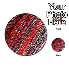 Red and black elegant pattern Multi-purpose Cards (Round)
