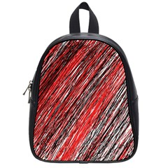 Red and black elegant pattern School Bags (Small)