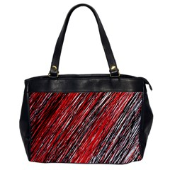 Red and black elegant pattern Office Handbags