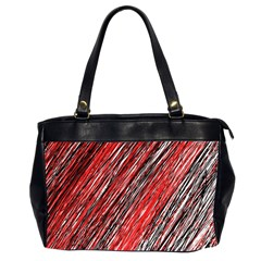 Red and black elegant pattern Office Handbags (2 Sides)