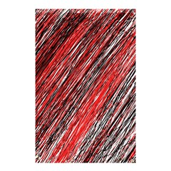 Red and black elegant pattern Shower Curtain 48  x 72  (Small)