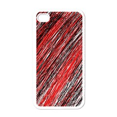 Red and black elegant pattern Apple iPhone 4 Case (White)