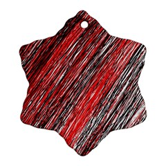 Red and black elegant pattern Ornament (Snowflake)