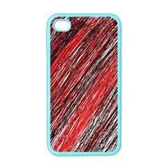 Red and black elegant pattern Apple iPhone 4 Case (Color)