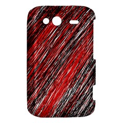 Red and black elegant pattern HTC Wildfire S A510e Hardshell Case