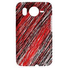 Red and black elegant pattern HTC Desire HD Hardshell Case