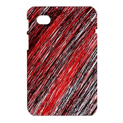 Red and black elegant pattern Samsung Galaxy Tab 7  P1000 Hardshell Case