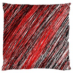Red and black elegant pattern Large Cushion Case (One Side)